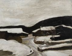 Sheila Fell Heavy Snow II, 1979 oil on canvas 28 by 36 inches Contemporary Landscape, Landscape Art, Landscape Paintings, Winter Light, English Artists, Artist Life, Cool Landscapes, Lake District, Famous Artists