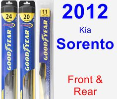 Front & Rear Wiper Blade Pack for 2012 Kia Sorento - Hybrid