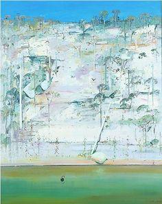 Arthur Boyd   Shoalhaven Riverbank oil on canvas, 152 x 121.5 cm Australian Painting, Australian Artists, Abstract Landscape, Landscape Paintings, Landscapes, Arthur Boyd, Cool Artwork, Lovers Art, New Art
