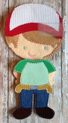 Handy Manny Felt Boy Doll Outfit by NettiesNeedlesToo on Etsy, $8.00