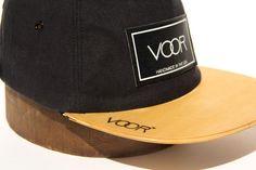 1e009352730 Trucker - Black Denim - Wood Brim Hat
