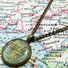 Africa Map Necklace by BrassAndChain