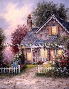 Summer Cottage-would love to live there...at least could see it on my wall.
