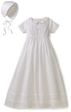 Kitestrings Baby-Boys Newborn Cotton Christening Gown And Bonnet Set, White, 0-3 Months $56.00 & FREE Shipping