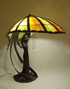 Art Nouveau Lady Lamp - Ideas on Foter Mosaic Glass, Lamp, Beautiful Lamp, Art Nouveau Lamps, Tiffany Lamps, Tiffany Inspired Lamps, Glass, Leaded Glass, Vintage Lamps