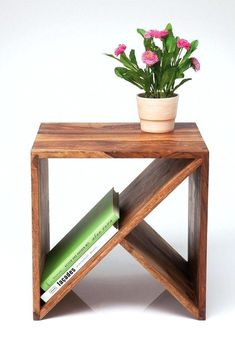 Teds Wood Working - Table basse / chevet - Get A Lifetime Of Project Ideas & Inspiration! Cube Furniture, Furniture Projects, Furniture Design, Diy Projects, Pallet Furniture, Bedroom Furniture, Urban Furniture, Diy Bedroom, Furniture Storage