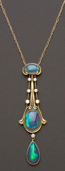 Black Opals ~ Art Nouveau
