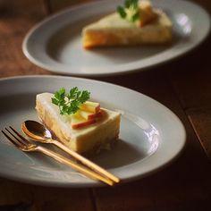 #apple #cheese #cake #りんご#チーズケーキ#秋#お菓子#デザート#ケーキ#手作り