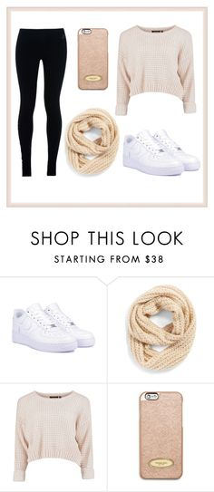 """""""Relaxing at home"""" by lara-radosevic ❤ liked on Polyvore featuring NIKE, BCBGeneration and MICHAEL Michael Kors"""