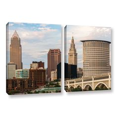 Cleveland 9 by Cody York 2 Piece Gallery-Wrapped Canvas Set