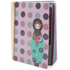 Mon Petit Art Pois Georges & Rosalie Notebook at alexandalexa.com