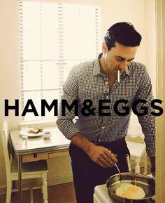John Hamm and Eggs