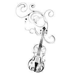 Violin vector image on VectorStock Music Tattoos, Body Art Tattoos, Small Tattoos, Music Drawings, Art Drawings, Violin Tattoo, Tatto Love, Hope Art, Quilling Patterns