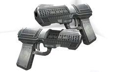 Tarver's Gleidel -- laser gun. These Broken Stars, Secret Space, Futuristic City, Weapons, Two By Two, Guns, Man Stuff, Book Series, Shadows