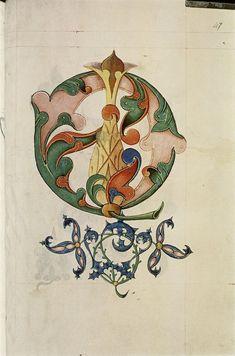 The Tudor Pattern Book - Design based on botanical shapes, flowers, pineapple. Medieval Manuscript, Medieval Art, Renaissance Art, Illuminated Letters, Illuminated Manuscript, Pattern Books, Pattern Art, Pattern Design, Medieval Pattern