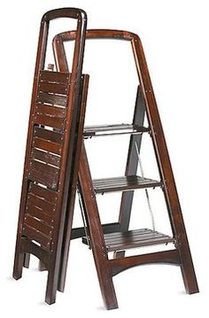 Wooden Step Stool - traditional - ladders and step stools - FRONTGATE