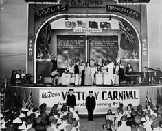 Variety shows were good opportunities to sell Victory Bonds and Weston's Bakery got into the act with its carnival in Toronto. Weston's Victory Carnival in Toronto during World War II was just one bond drive that eventually raised 9 billion for the war effort, about four times the amount raised during World War I. Canteen, World War Ii, Wwii, Victorious, Effort, Toronto, Bond, Acting, Bakery