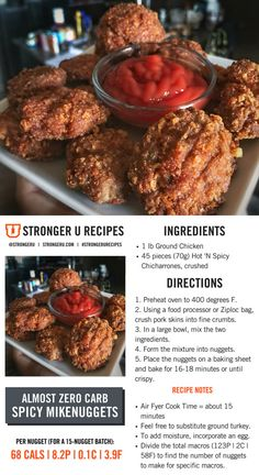You'll love these 2-ingredient #lowcarb spicy nuggets. Follow us on Instagram @strongeru or the tag #strongerurecipes for more healthy recipes.