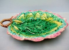 This is a Griffith Smith & Hill etruscan majolica leaf -- American maker, one of my favorites.