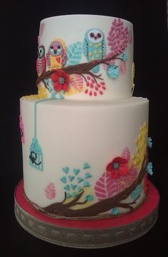 Colorful Owl Cake!