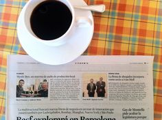 Coffee tastes better when one's been featured at #lavanguardia ;-)  #music #audio #hifidelity #tech #speakers #design #hifi #suprematism #fidelity #ecofriendly