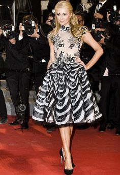 Paris Hilton was the star of the red carpet at the premiere of Australian film The Rover at the Cannes Film Festival. Paris Hilton, Celebrity Red Carpet, Celebrity Style, Cannes Film Festival 2014, L'oréal Professionnel, Oui Oui, Girls Dresses, Formal Dresses, Well Dressed