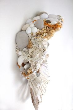 Sommer Roman - Rugosa 2011 reclaimed fabric wire glue ink x x Land Art, Growth And Decay, Nature Artists, Textiles, Textile Fiber Art, Weaving Art, High Art, Fabric Jewelry, Soft Sculpture