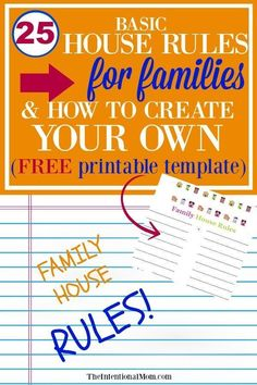 Whether for toddlers, teens, or kids in-between, house rules are an important part of a family for less stress, less conflict and LESS YELLING. Parenting Teenagers, Parenting Plan, Parenting Styles, Parenting Quotes, Parenting Hacks, Foster Parenting, Parenting Websites, Over The Top, Family Rules Printable