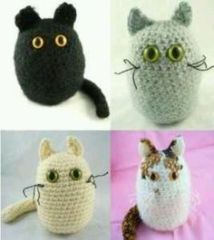 adorable amigurumi crochet cats