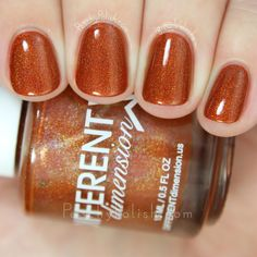 Different Dimension Let Your Gourd Down | Falling In Love Collection | Peachy Polish #orange