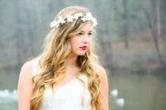 flower hair bridal flower crown wedding by serenitycrystal on Etsy