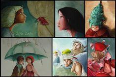 effielada_prosopa2 Cartoon, Painting, Painting Art, Paintings, Cartoons, Painted Canvas, Comics And Cartoons, Drawings