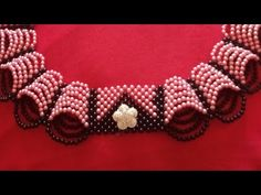 الصدر جاهز بكل خطواته - YouTube Bead Jewellery, Beaded Jewelry, Beaded Bracelets, Diy Schmuck, Beading Tutorials, Jewelry Patterns, Stone Beads, Seed Beads, Diy And Crafts