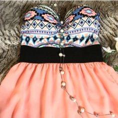 EUC- Rue 21 - Aztec Cotton & Chiffon Dress No flaws, perfect for any occasion. Rue 21 Dresses Midi