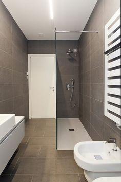 Simple and Challenging DIY Bathroom Remodel Projects Small Bathroom Renovations, Bathroom Remodel Cost, Modern Bathrooms Interior, Modern Bathroom Decor, Shower Remodel, Bathroom Colors, Bathroom Remodeling, Small Bathroom With Shower, Glass Bathroom