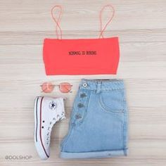 top neon normal is boring & mom jeans Lazy Outfits, Teenage Outfits, Tumblr Outfits, Cute Summer Outfits, Cute Casual Outfits, Outfits For Teens, Girl Outfits, Girls Fashion Clothes, Teen Fashion Outfits