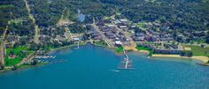 Photo of Boyne City, Michigan Petoskey Mi, Boyne City, Northern Michigan, Getting Out, Aerial View, Places To Visit, Coast, River, Outdoor