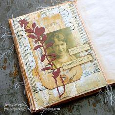 Collage Vintage, Vintage Art, Mixed Media Collage, Collage Art, Beautiful Dream, Handmade Books, Mini Books, Tim Holtz, Flower Cards