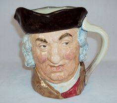 "Toby Character Jug ~ ""Sam Johnson"" ~ Large 7"", Royal Doulton, 1949 ~ #9120020"