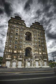The abandoned Divine Lorraine Hotel in North Philadelphia, PA