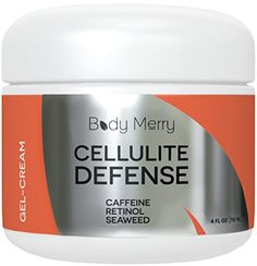 Best Cellulite Defense Gel-Cream - Reduces Appearance of Cellulite - With Caffeine, Retinol & Seaweed- For Body Firming & Toning - 4 oz - By Body Merry Body Merry http://www.amazon.com/dp/B00N4UXI6G/ref=cm_sw_r_pi_dp_zIO5vb0FRAKSD