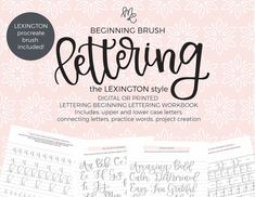 The Lettering Academy – mirabellecreations Hand Lettering Quotes, Brush Lettering, Lexington Style, Large Paper Flowers, Lettering Tutorial, Lower Case Letters, The Book, Crochet Patterns, How Are You Feeling