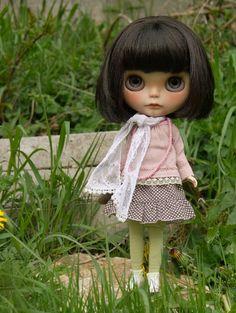 just because I love #blythe dolls . nice scarf