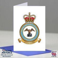 RAF Cranwell Station Crest Presentation Posting Promotion Retirement Card Gift