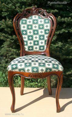 Gyönyörű állapotban Dúsan faragott Neobarokk szék. - 32000 Ft - Nézd meg Te is Vaterán - Fotel, szék - http://www.vatera.hu/item/view/?cod=1884252509