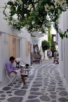 Village of Parikia on de island of Paros in Greece