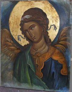 Risultati immagini per angel icon byzantine Byzantine Icons, Byzantine Art, Religious Icons, Religious Art, Writing Icon, Angel Pictures, Archangel Michael, Orthodox Icons, Medieval Art