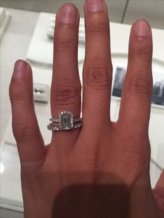Tiffany Amp Co Soleste With An Emerald Cut Halo Diamond