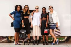 The NYFW Street-Style Looks That Truly Stunned #refinery29  What do you get when mix brilliant stylists with a clean, white wall?