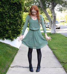 New Dress A Day - DIY - Upcycle - Goodwill Dress